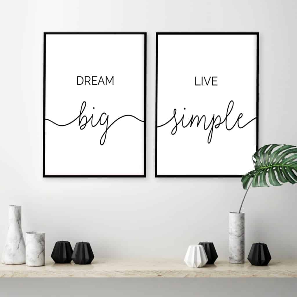 Minimalist Inspirational Quote Canvas Painting