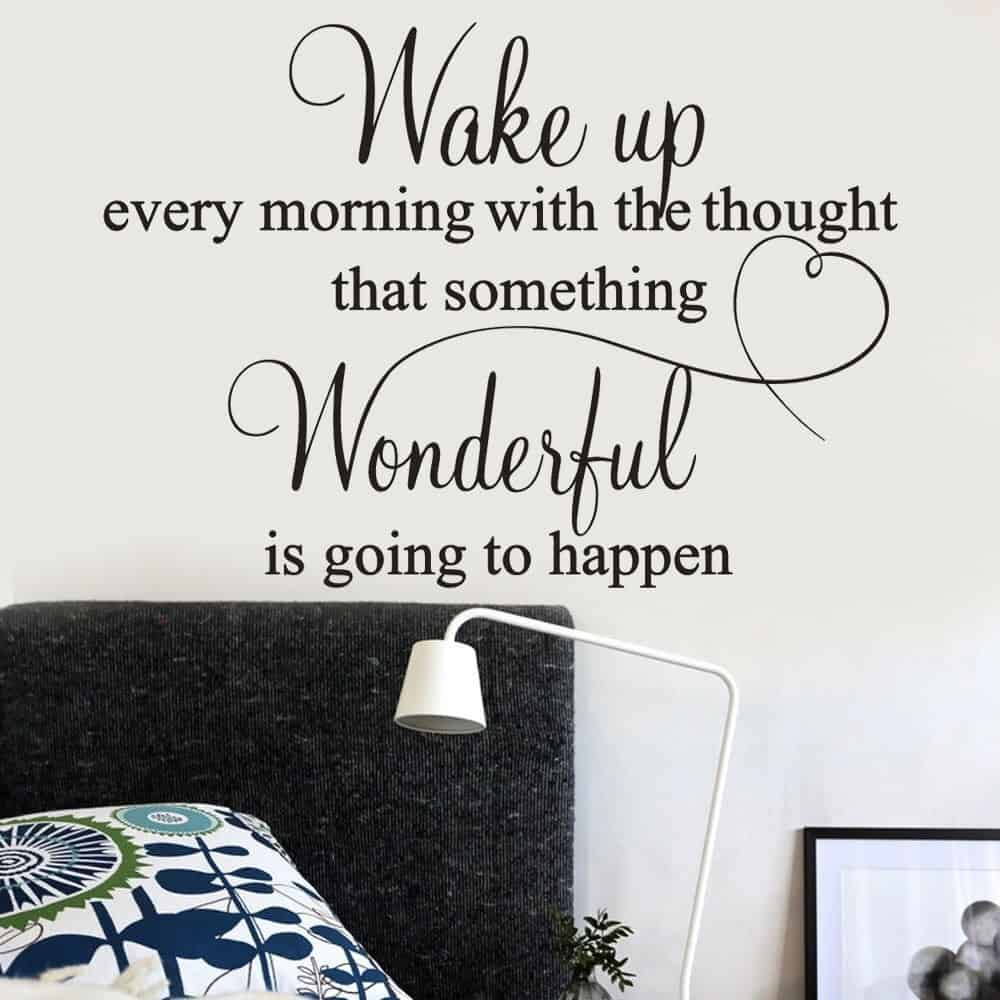 Motivational Items: Removable Wall Decal For Your Bedroom
