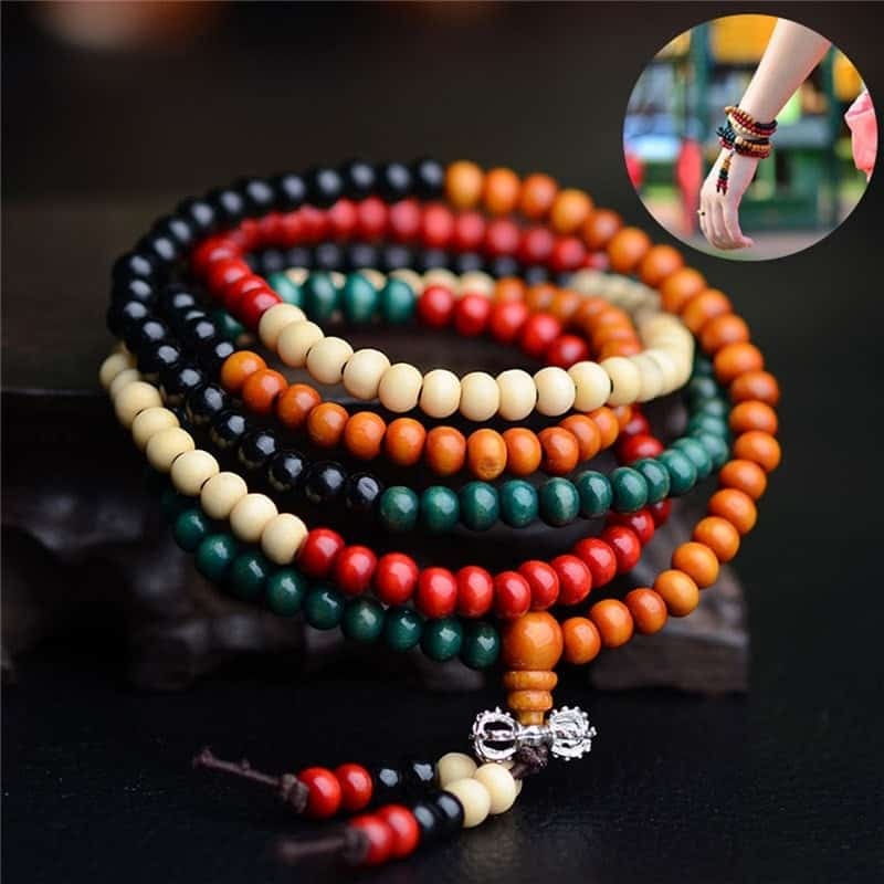Natural Sandalwood Buddhist Prayer Bead
